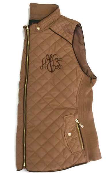 Caramel Monogram Vests