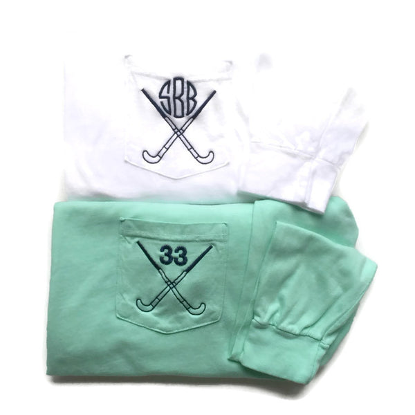 Long Sleeve Monogram Field Hockey Pocket Tees