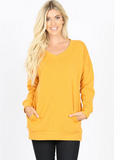 WV V Neck Sweatshirt - Gold