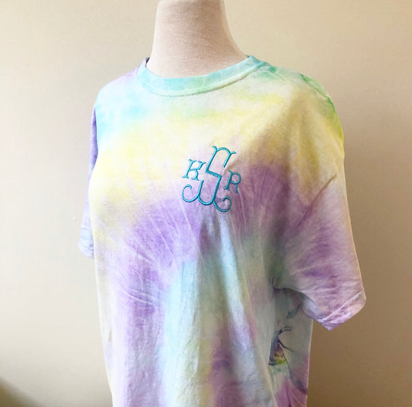 Cool Breeze Monogram Tie Dye T-Shirt