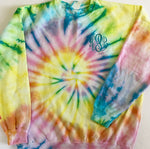 Summertime Dreams Tie Dye Monogram Crewneck