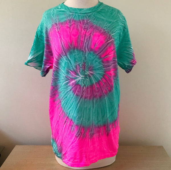 Neon Watermelon Monogram Tie Dye T-shirt