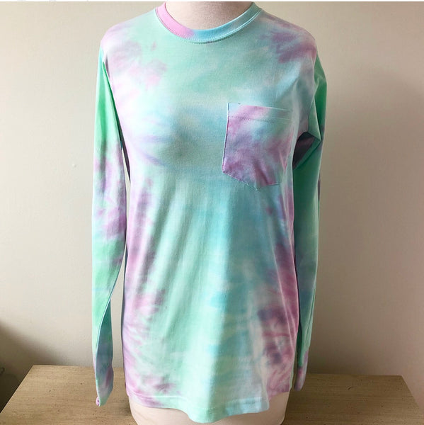 Multi Seafoam Tie Dye Long Sleeve