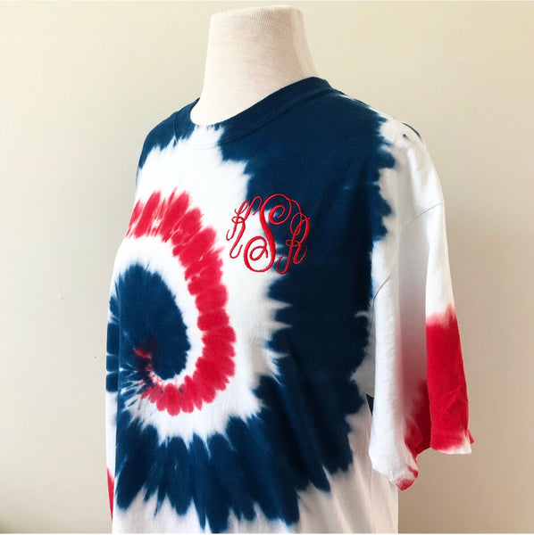 USA Monogram Tie Dye T-Shirt | Small-XL