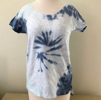Shades Of Blue Tie Dye Monogram Shirt