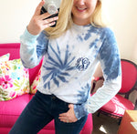 Long Sleeve Monogram Pocket Tee - Shades Of Blue