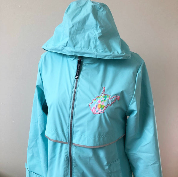 Turquoise XS Raincoat / Final Sale