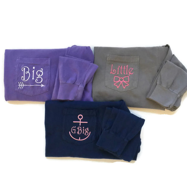 Long Sleeve Sorority Family Reveal Shirts With Symbols