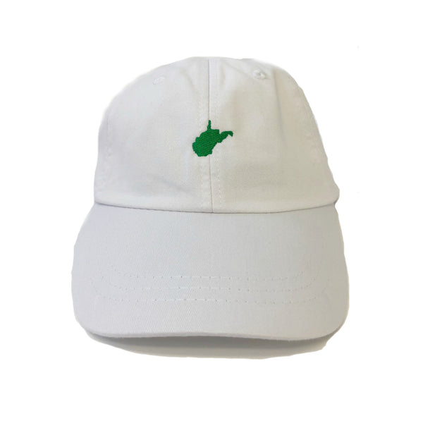 Mini West Virginia Hat - White With Green