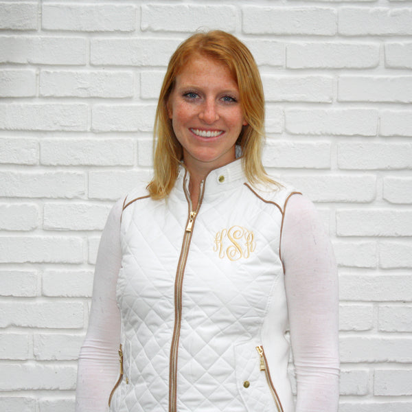 White Monogram Vests
