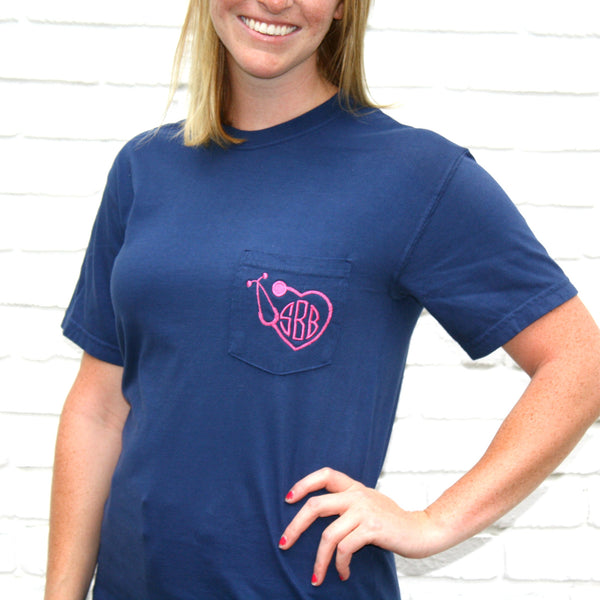 Short Sleeve Stethoscope Shirt