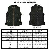 Black Vests - Smalls / Final Sale