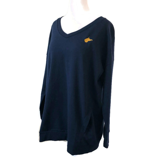 WV V Neck Sweatshirt - Navy