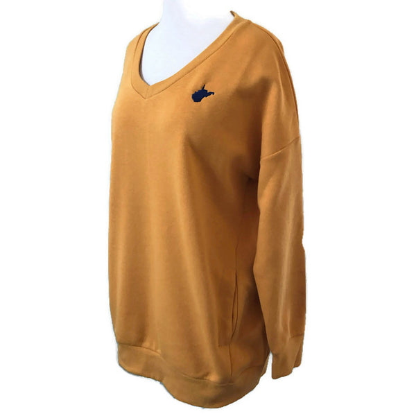 WV V Neck Sweatshirt - Gold XL