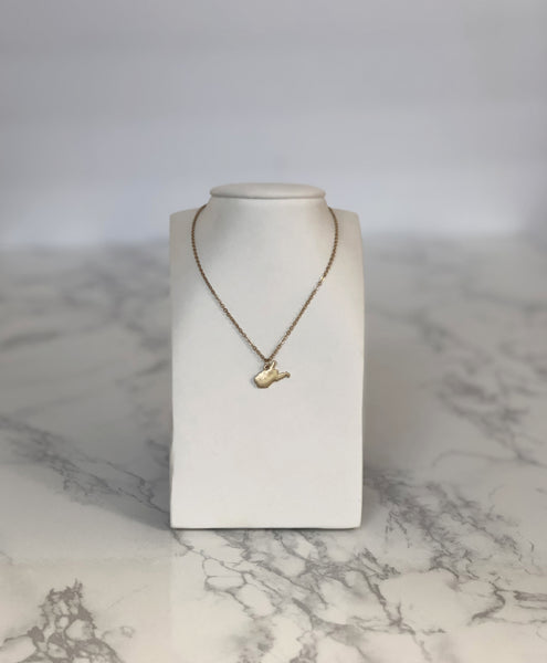 West Virginia Mini Necklace Gold