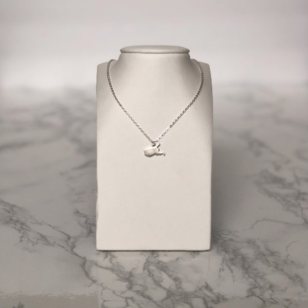 West Virginia Mini Necklace Silver