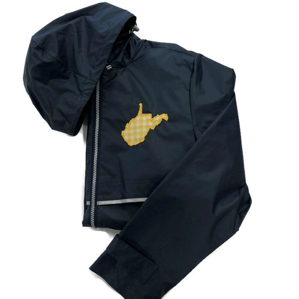 West Virginia Navy/Mustard Gingham Raincoats