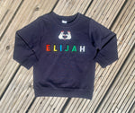 Load image into Gallery viewer, Personalised Name Patch Navy Sweater