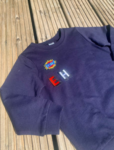 Personalised Name Patch Navy Sweater