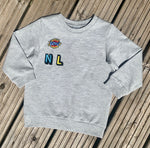 Load image into Gallery viewer, Personaliseda Name Patch Grey Marl Sweater
