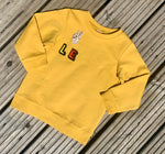 Load image into Gallery viewer, Personalised Name Patch Mustard Sweater