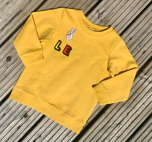 Personalised Name Patch Mustard Sweater