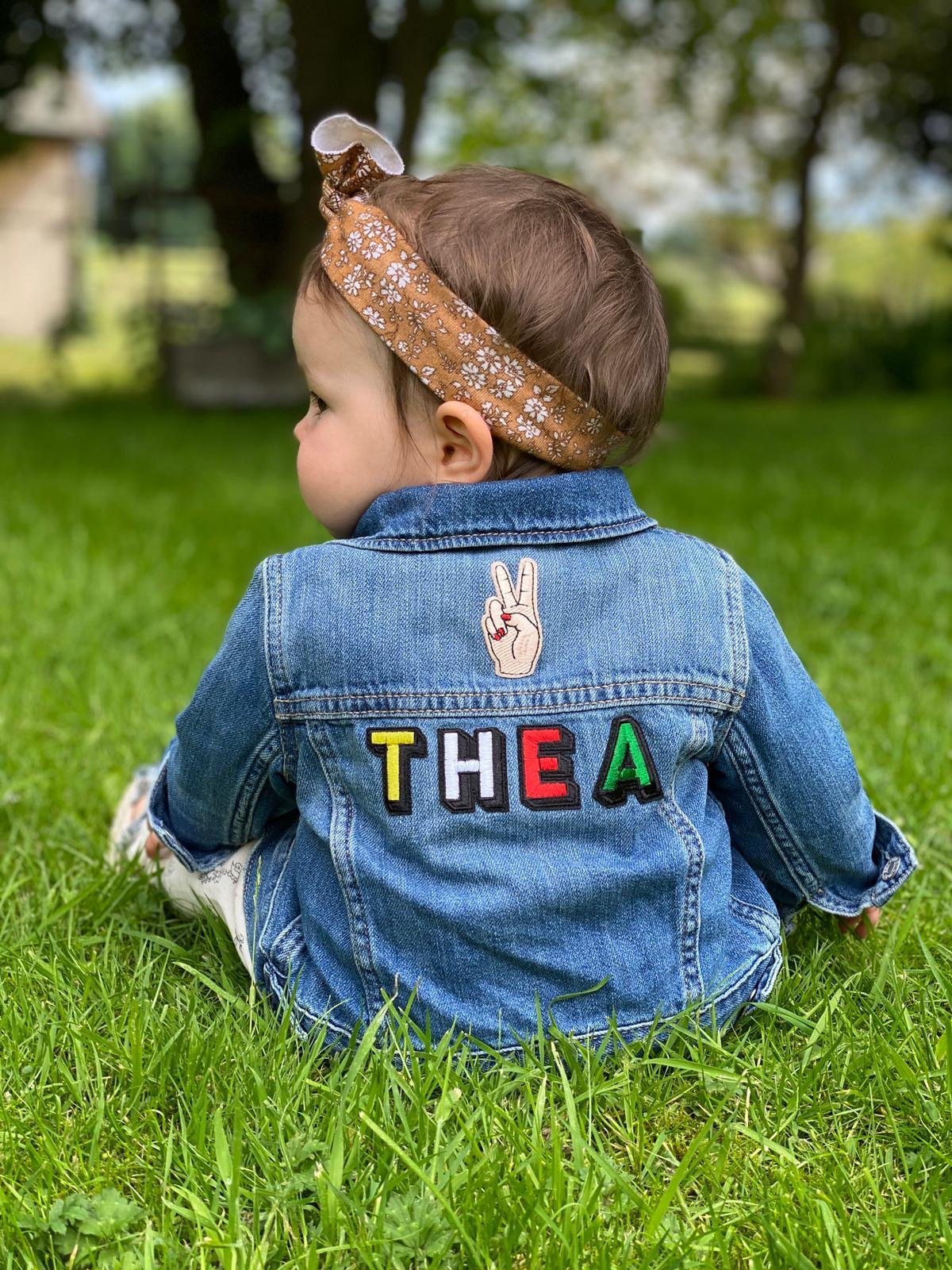 Personalised Name Patch Denim Jacket With Patch