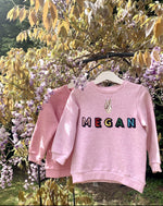 Load image into Gallery viewer, Personalised Name Patch Pale Pink Sweater