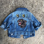 Load image into Gallery viewer, Personalised Name Patch Denim Jacket With Patch