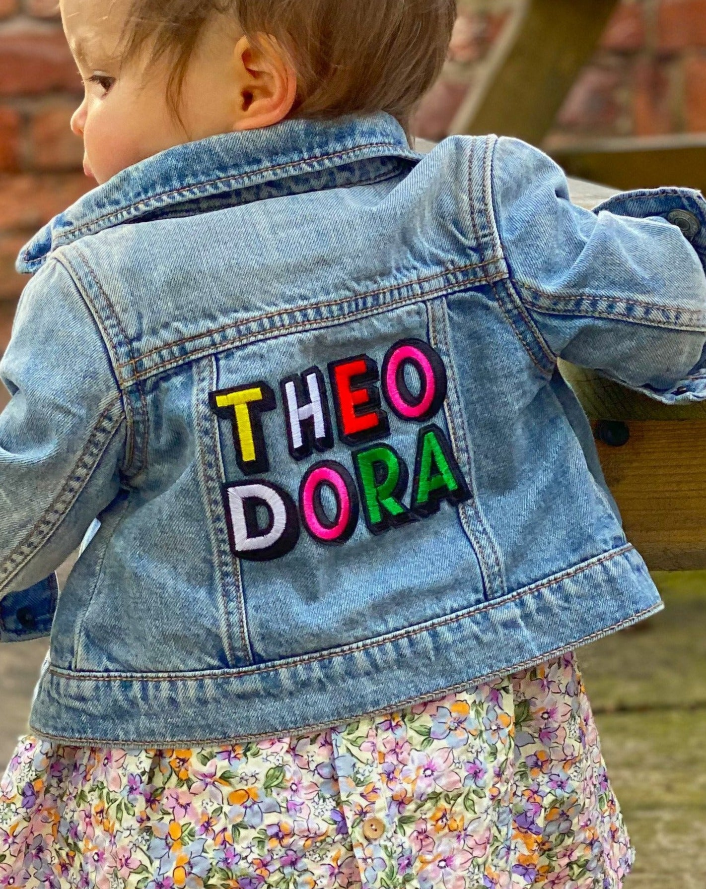 Personalised Name Patch Denim Jacket