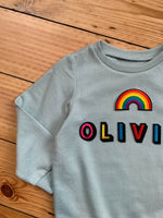 Load image into Gallery viewer, Personalised Name Patch Light Mint Sweater