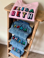 Load image into Gallery viewer, Personalised Name Patch Denim Jacket