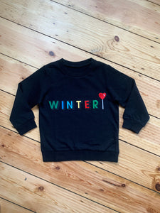 Personalised Name Patch Black Sweater