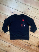 Load image into Gallery viewer, Personalised Name Patch Black Sweater
