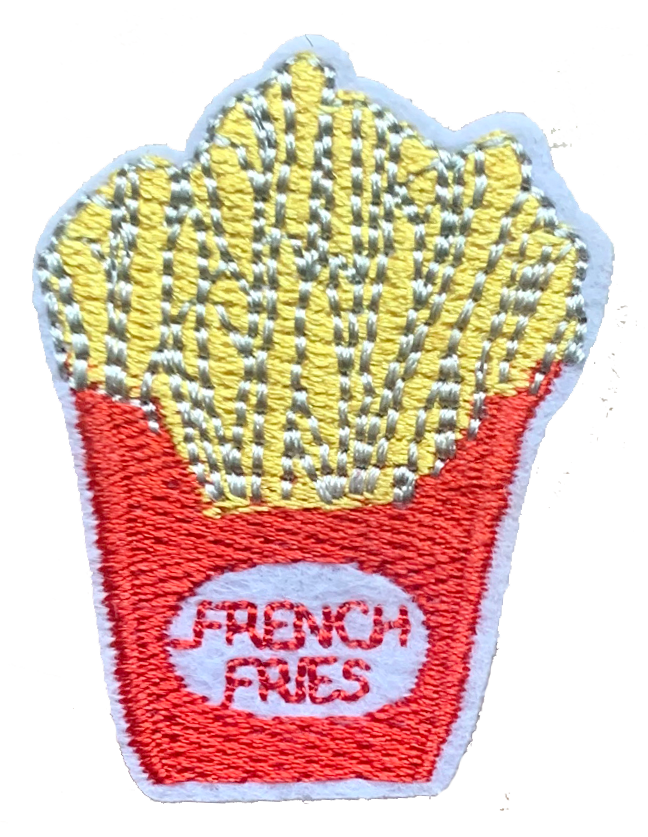 French Fries Patch 3.5 X 4.5cm