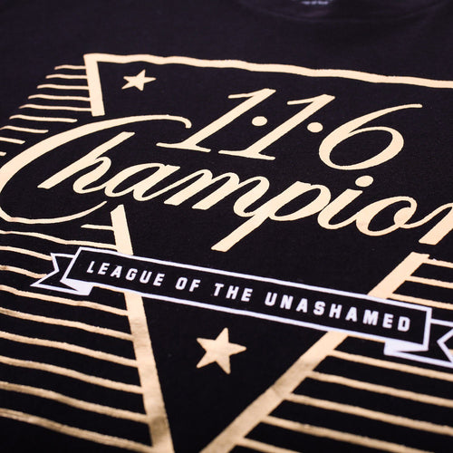116 Gold Foil Champs Tee