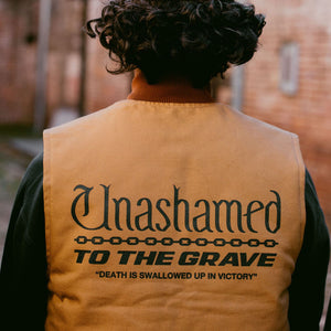 116 x Carhartt 'Unashamed To The Grave' Duck Canvas Vest