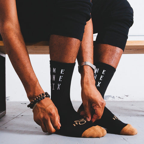 'One One Six' Socks - Black & Tan