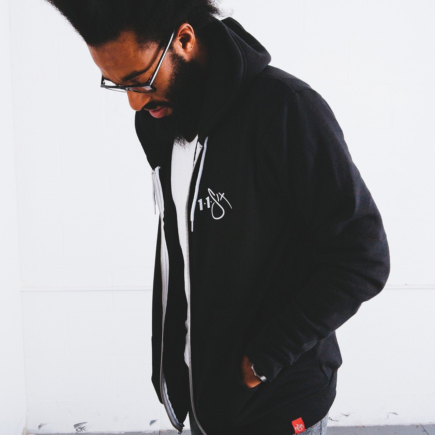 116 'Red Label' Full Zip Hoodie