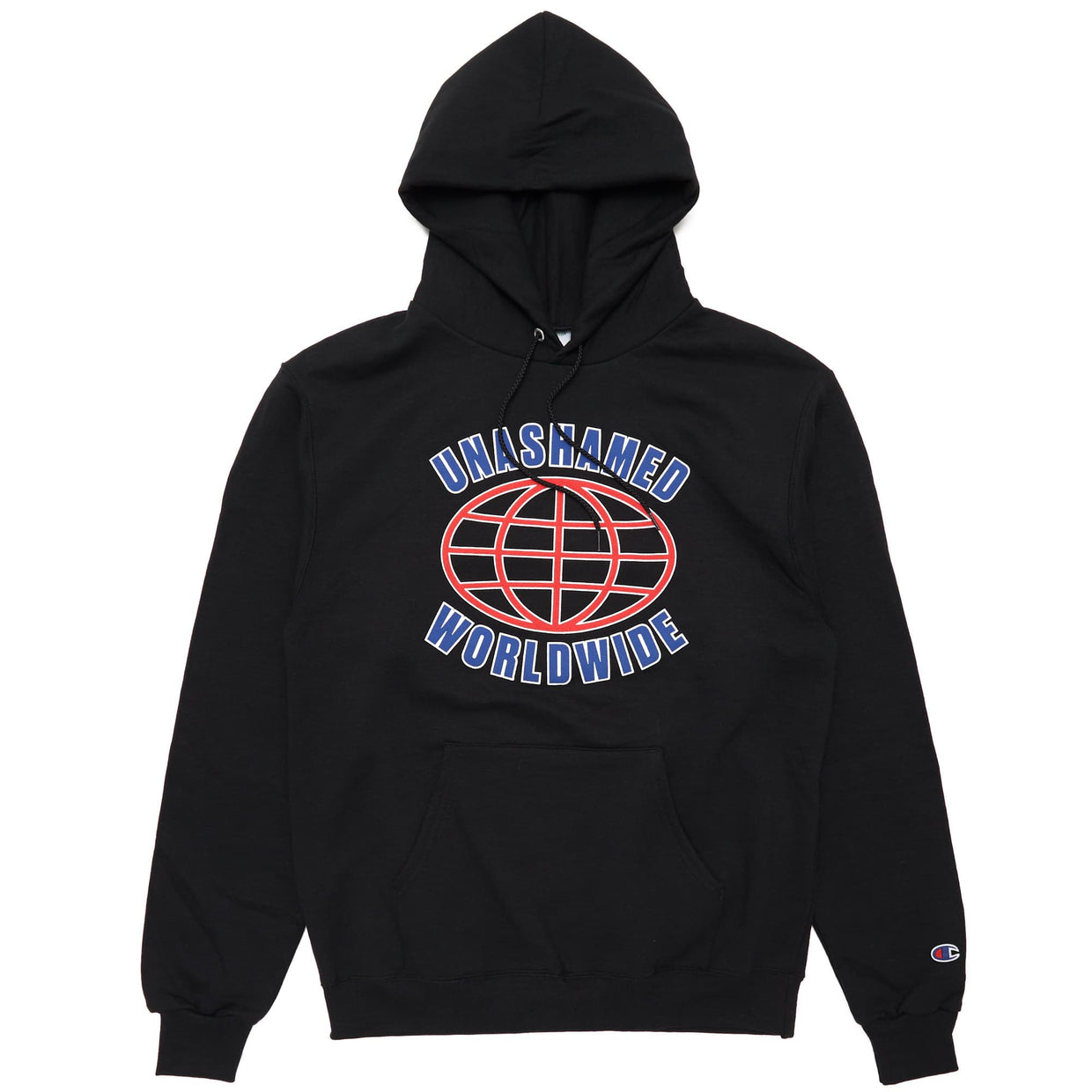 'Unashamed Worldwide' Champion Hoodie - Black