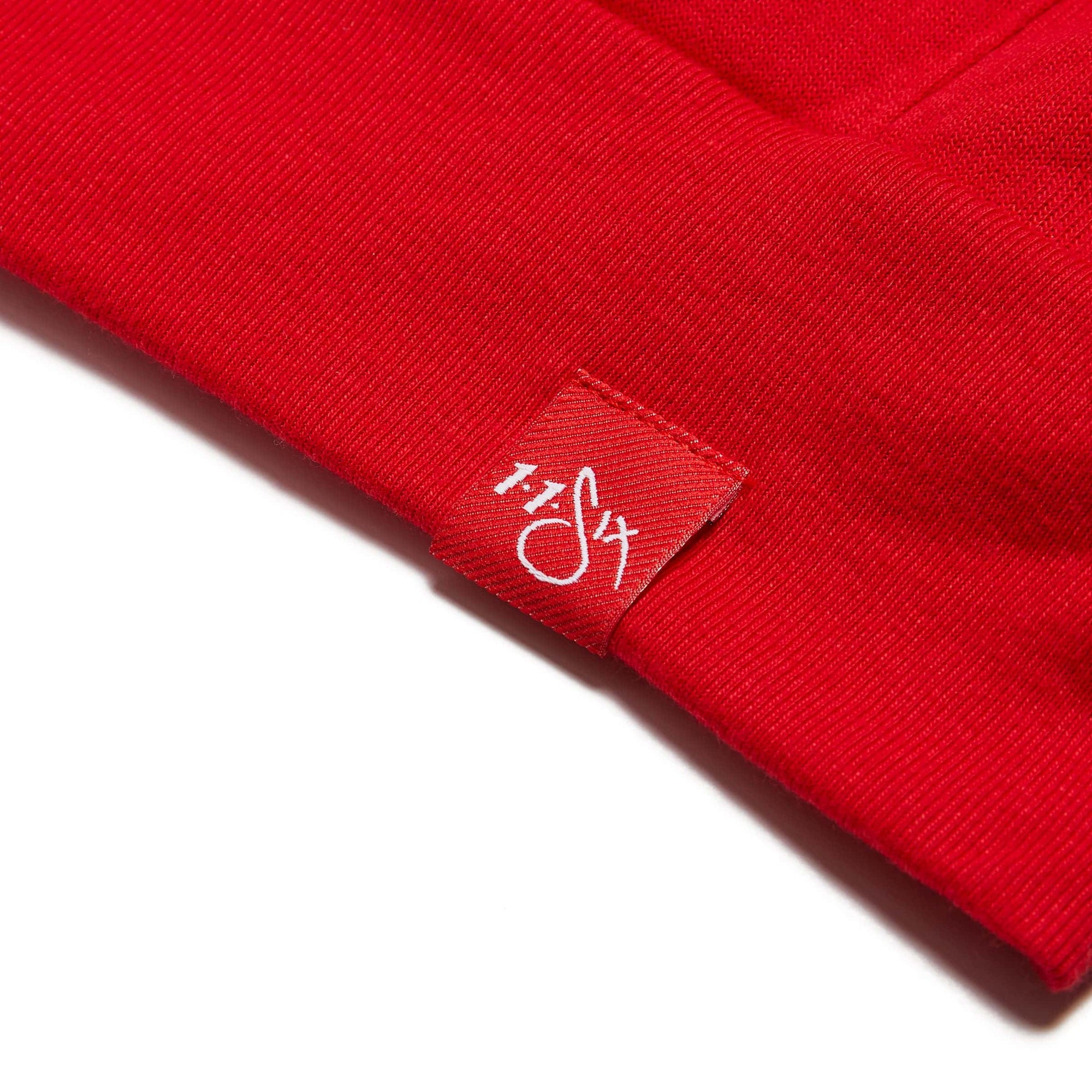 116 'Red Label' Pullover Hoodie - Red