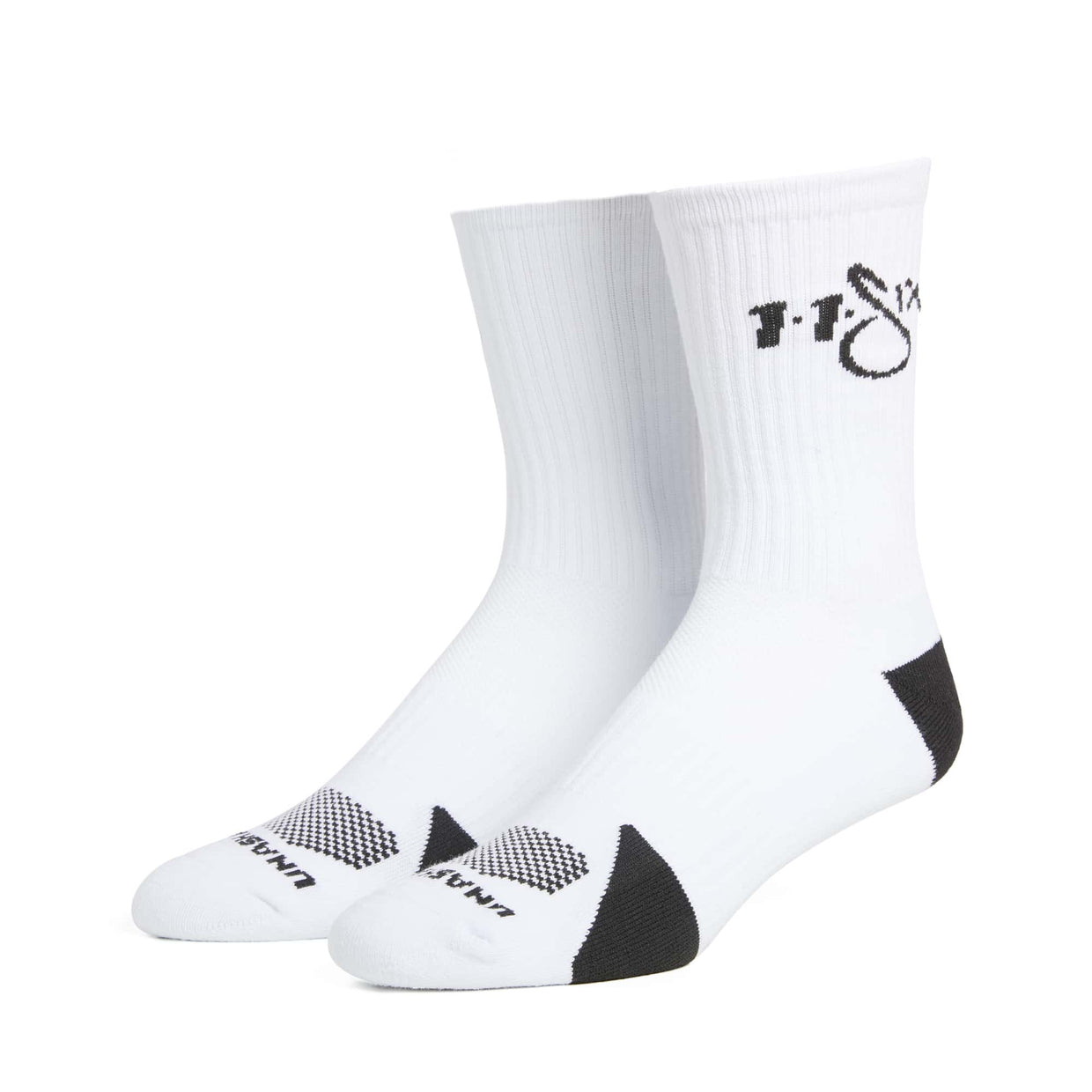 'Unashamed' Socks - White & Black