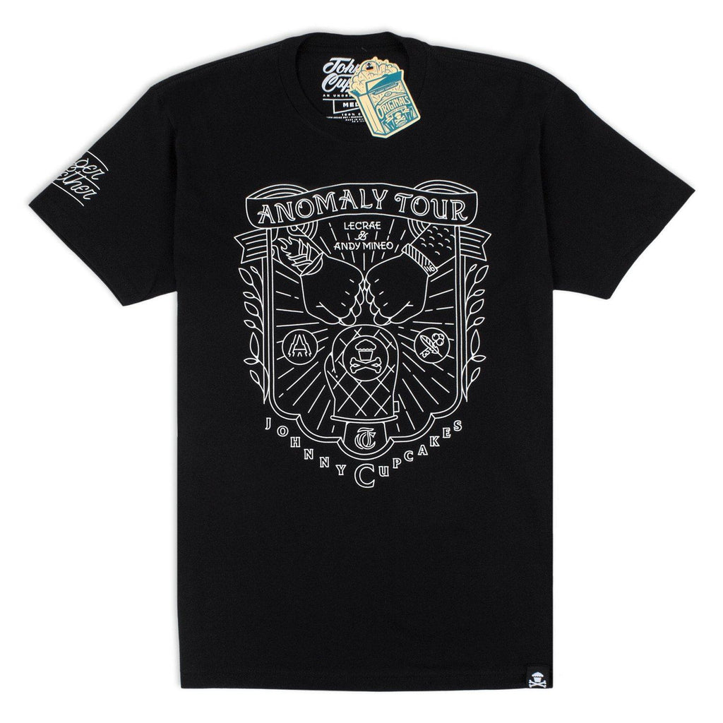 Limited 'Johnny Cupcakes x Anomaly Tour' T-Shirt