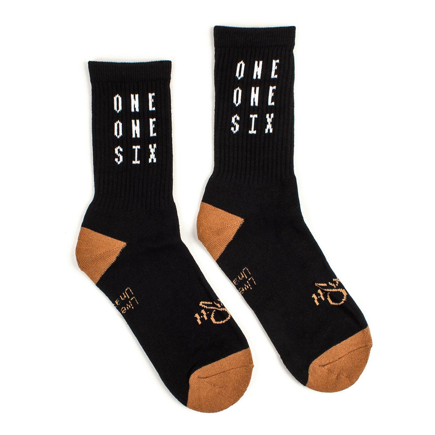 Reach Records 'One One Six' Socks - Brown & Black