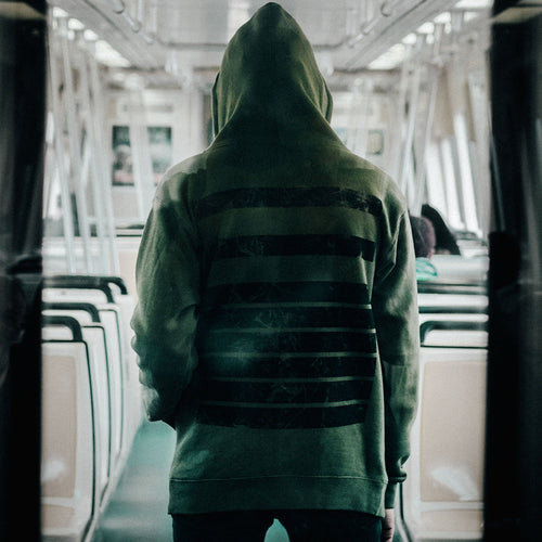 Distressed 116 Zip Up Hoodie