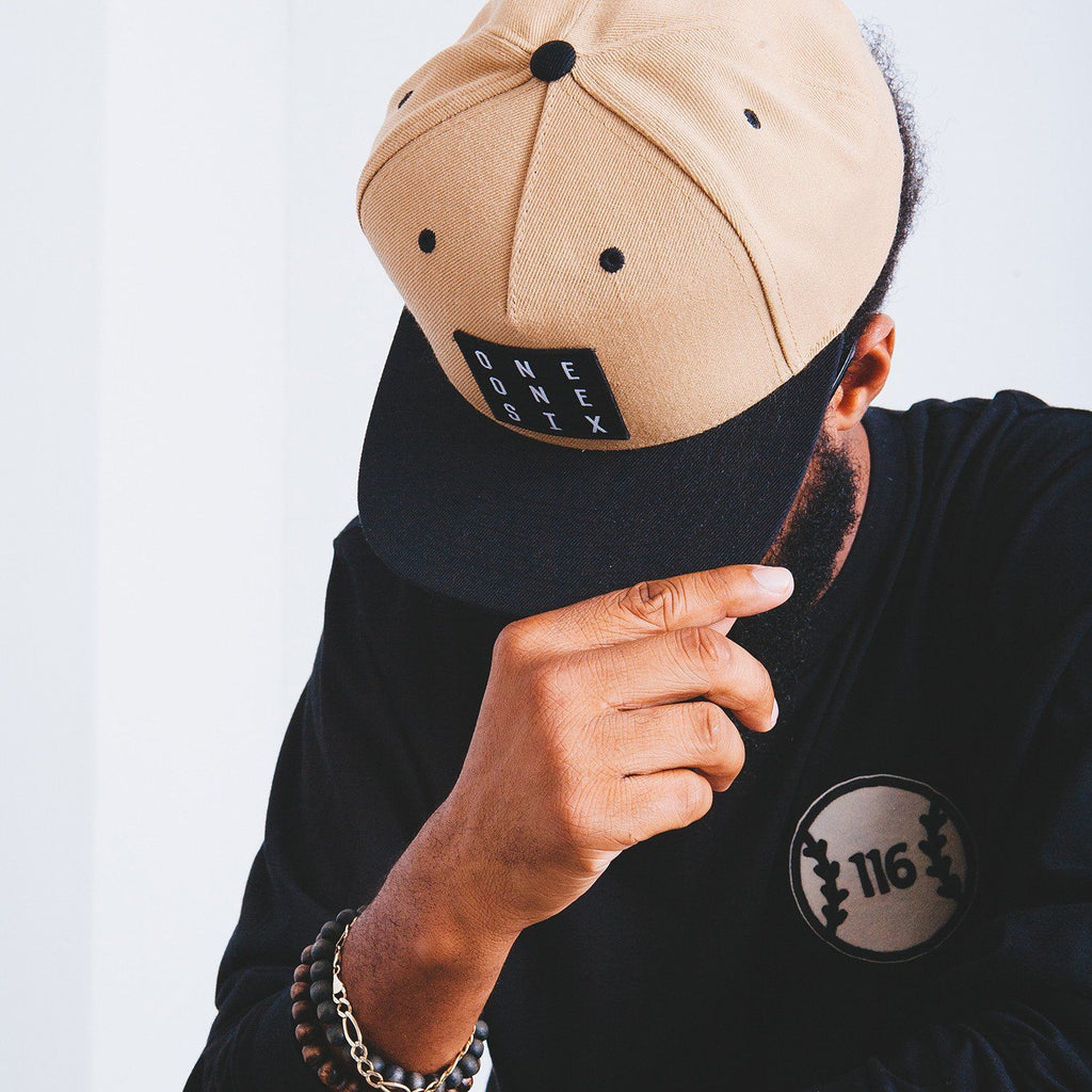 'One One Six' Snapback - Black & Tan