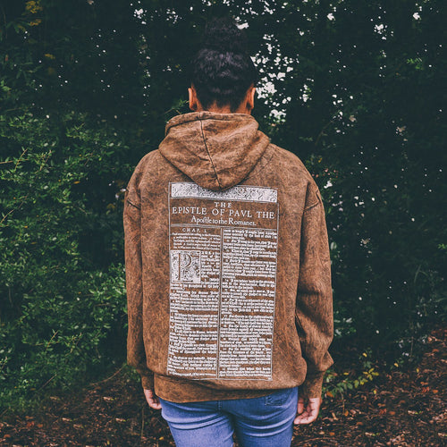 'For I Am Not Ashamed' Mineral Wash Pull Over Hoodie