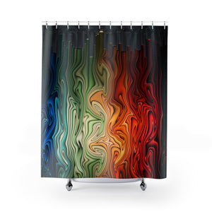 Color Space Shower Curtains
