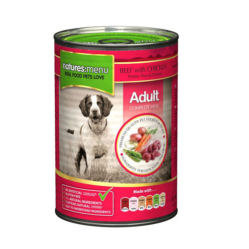 BEEF with CHICKEN ADULT NATURES MENU 400G