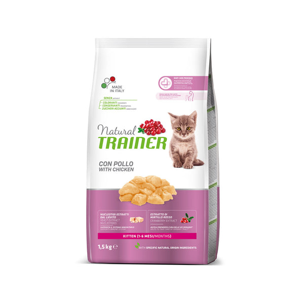 Natural TRAINER  cat KITTEN with CHIKEN 1,5kg